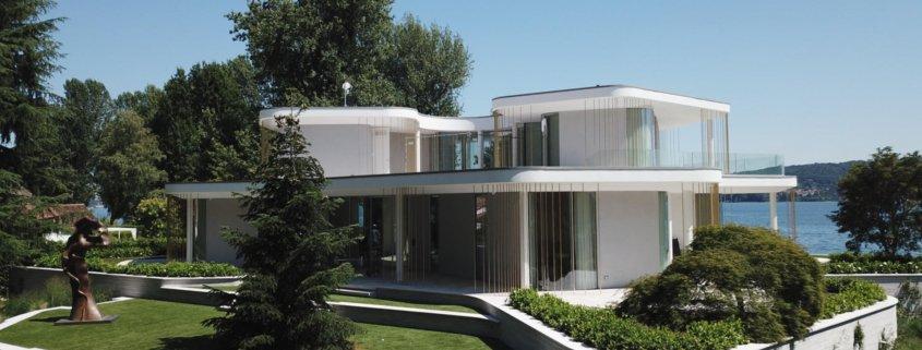 Interior design- mobili su misura a Villa Mosca Bianca, Lesa.